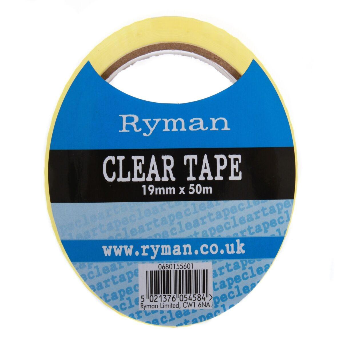 Ryman Tape 19mm x 50m Pack 16 Clear
