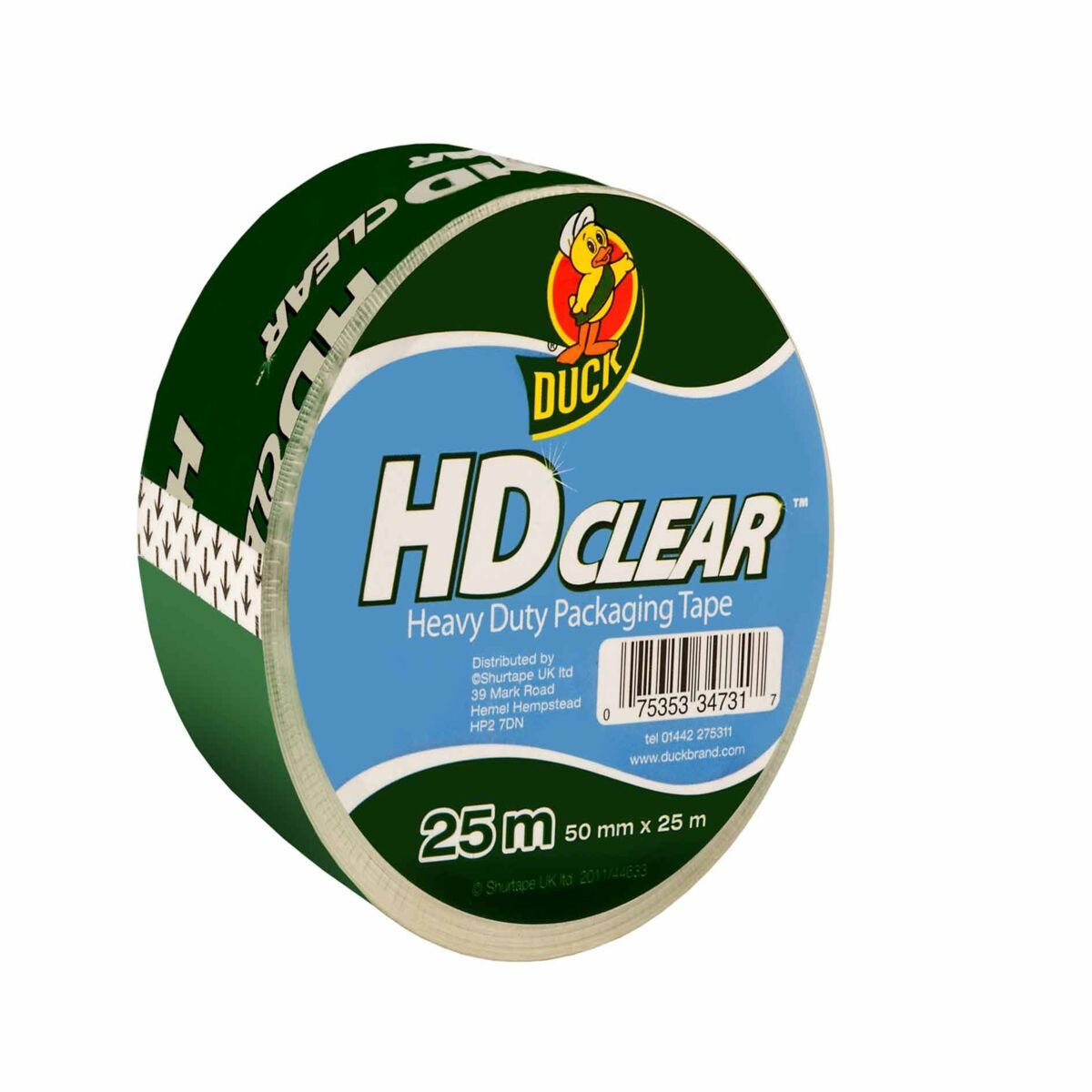 Duck Heavy Duty Packaging Tape 50mmx25mm Clear