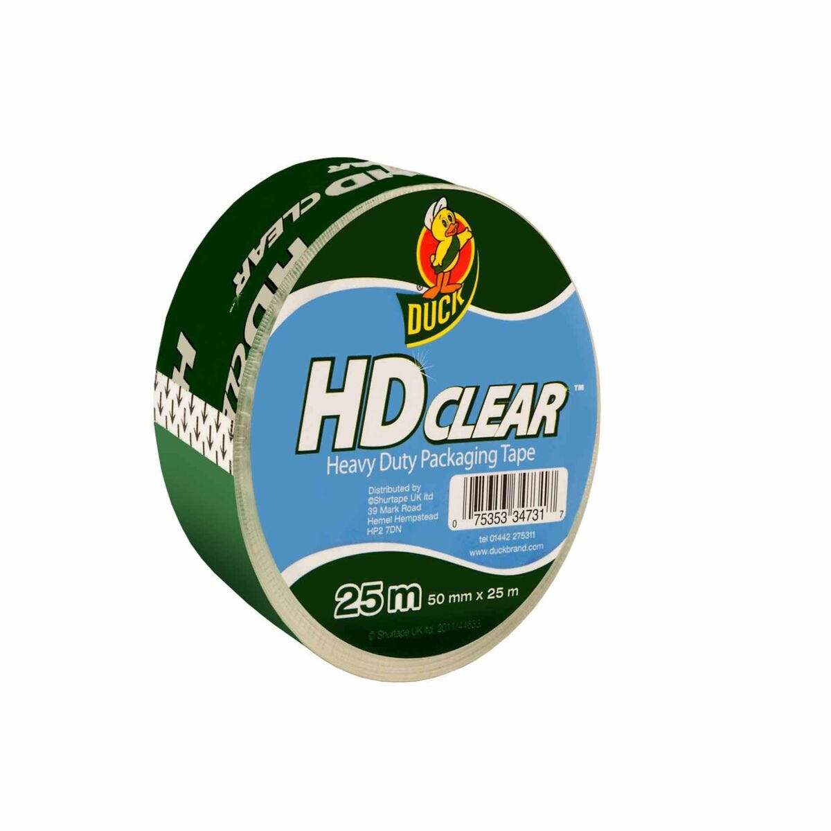 Duck Heavy Duty Packaging Tape 50mmx25m Pack of 6 Clear
