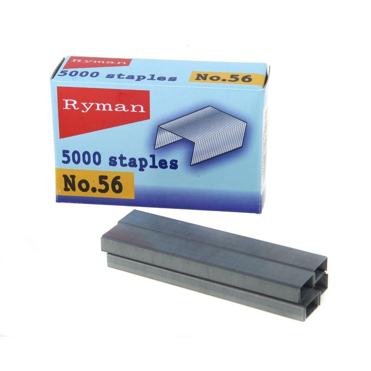 Ryman Staples No56 26/6 12 Packs of 5000