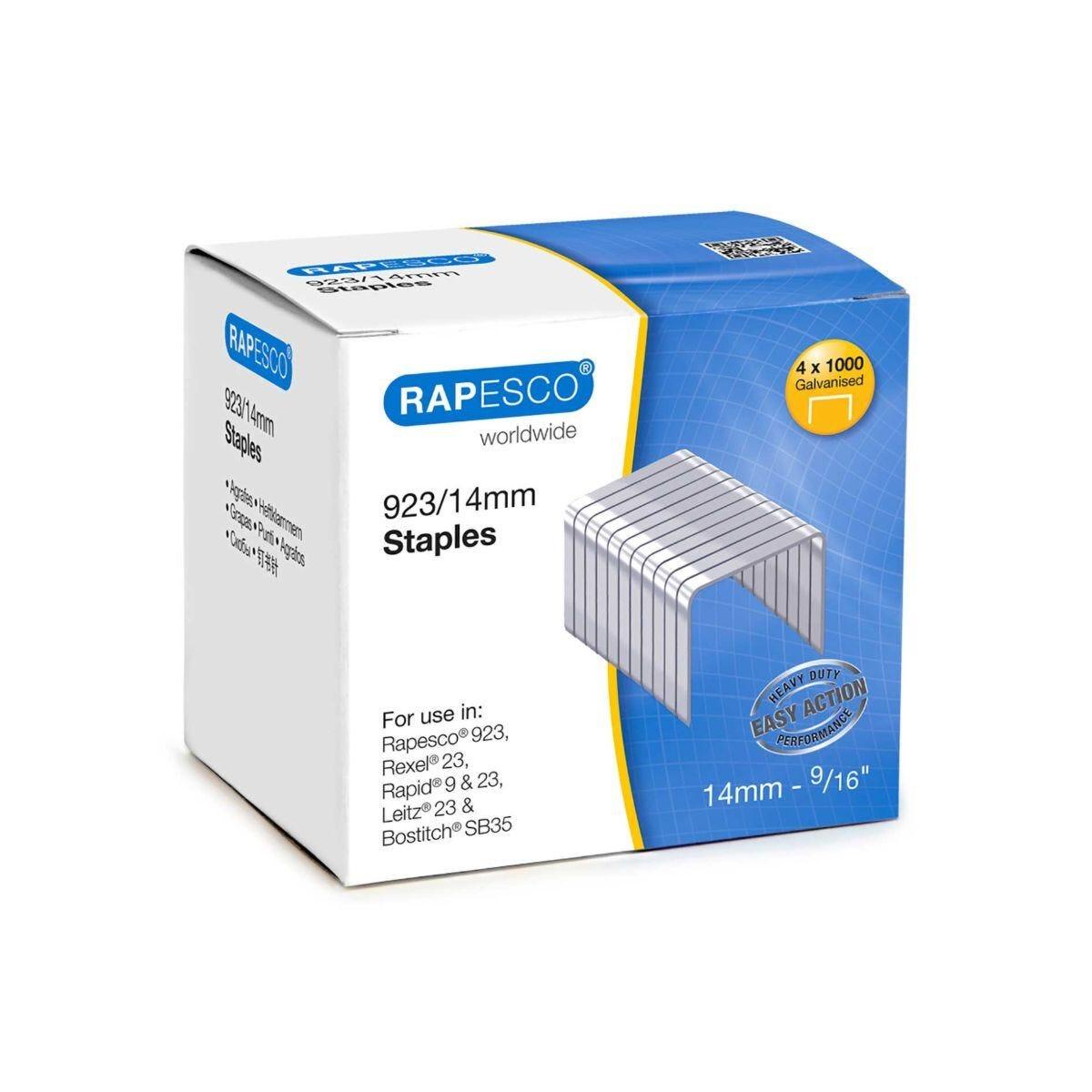 Rapesco Heavy Duty Staples 923/14mm Pack of 4000