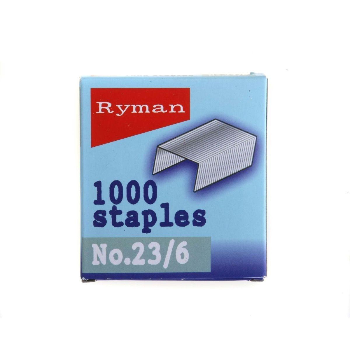 Ryman Staples 23/6mm Pack of 1000