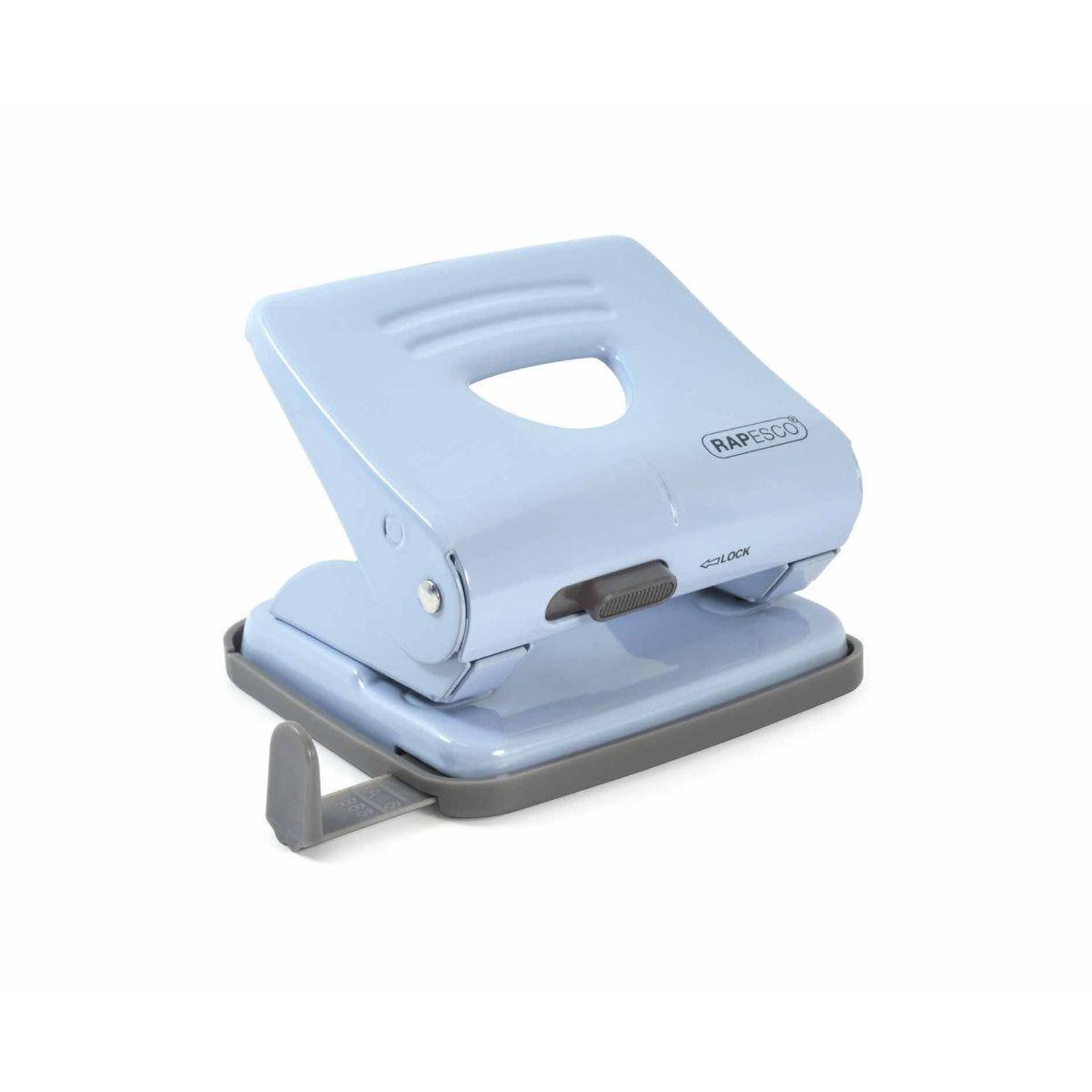 Rapesco 825 2 Hole Punch 25 Sheet Capacity Blue