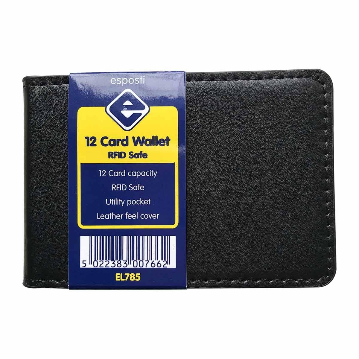 Esposti RFID Safe 12 Card Wallet