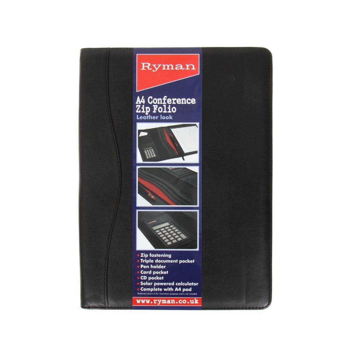 Ryman Conference Folder A4 Zip Fastener
