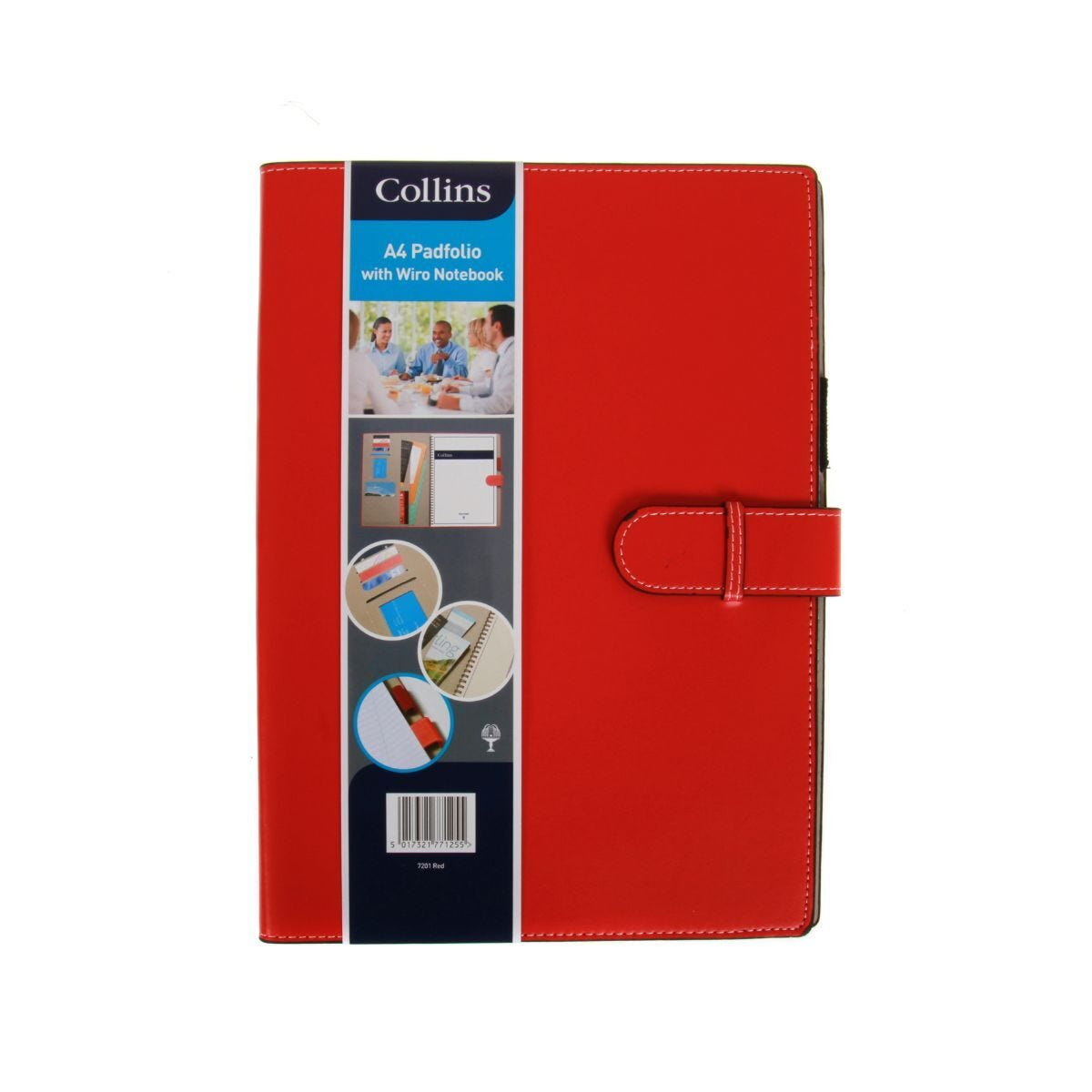 Collins Padfolio With Wiro Notebook A4 Red