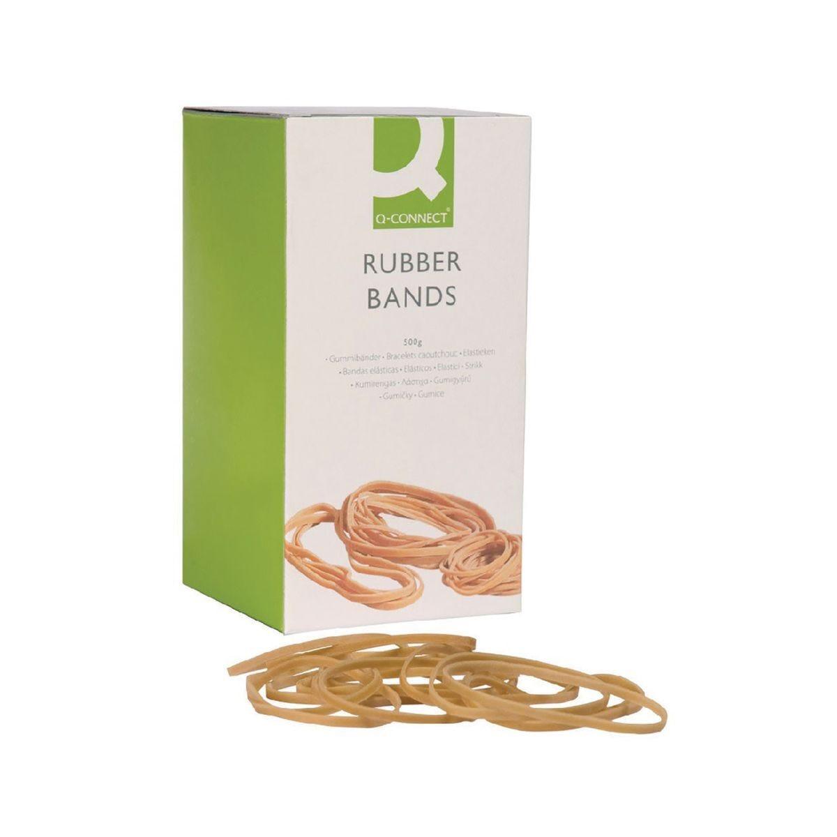 Q-Connect Rubber Bands 500g - No.19 88.9 x 1.6mm
