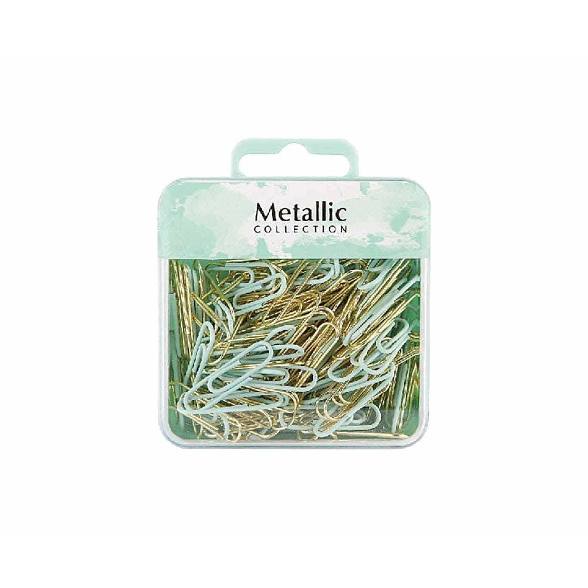 Paper Clips Gold and Green 28mm Pack of 180