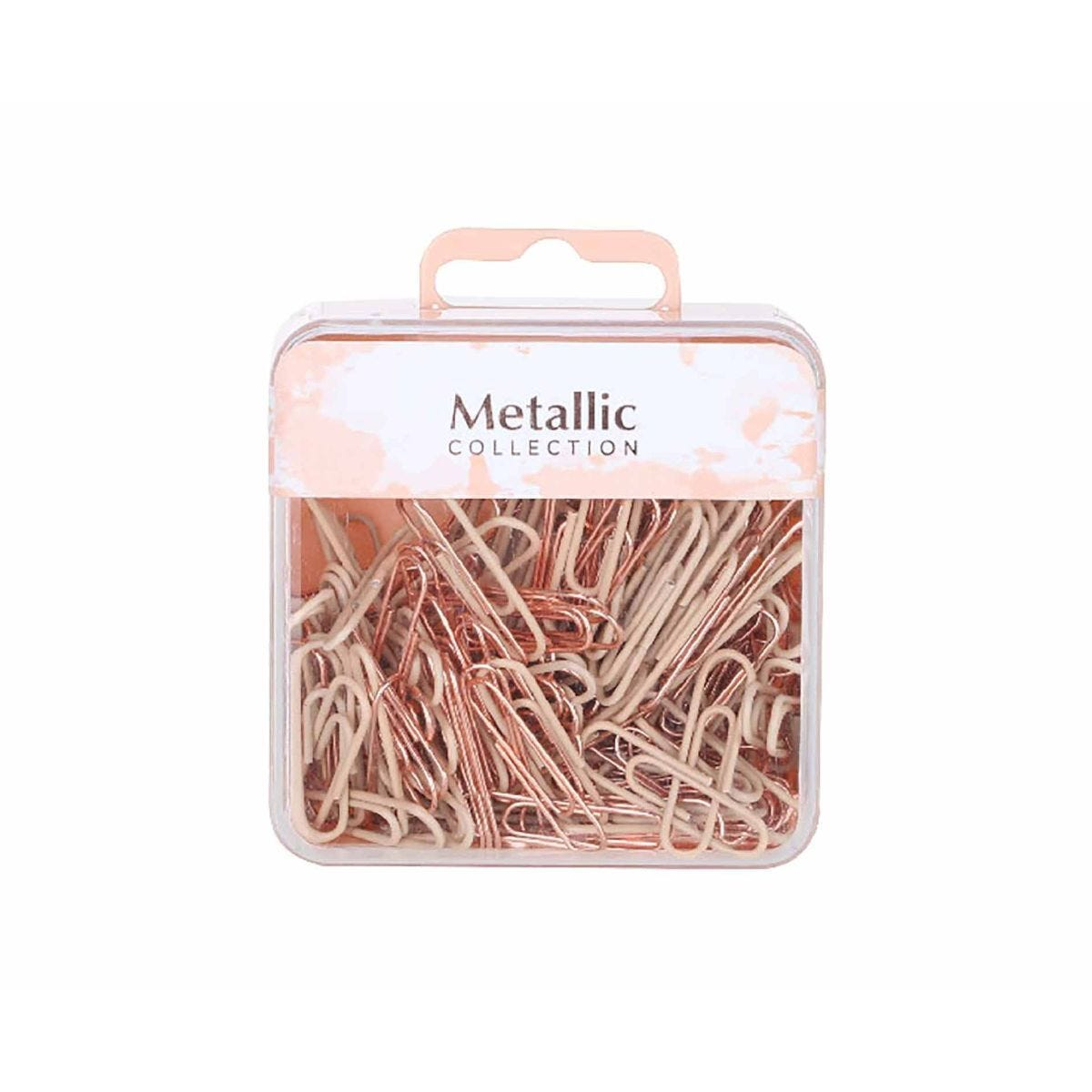 Paper Clips Silver and Rose Gold 28mm Pack of 180
