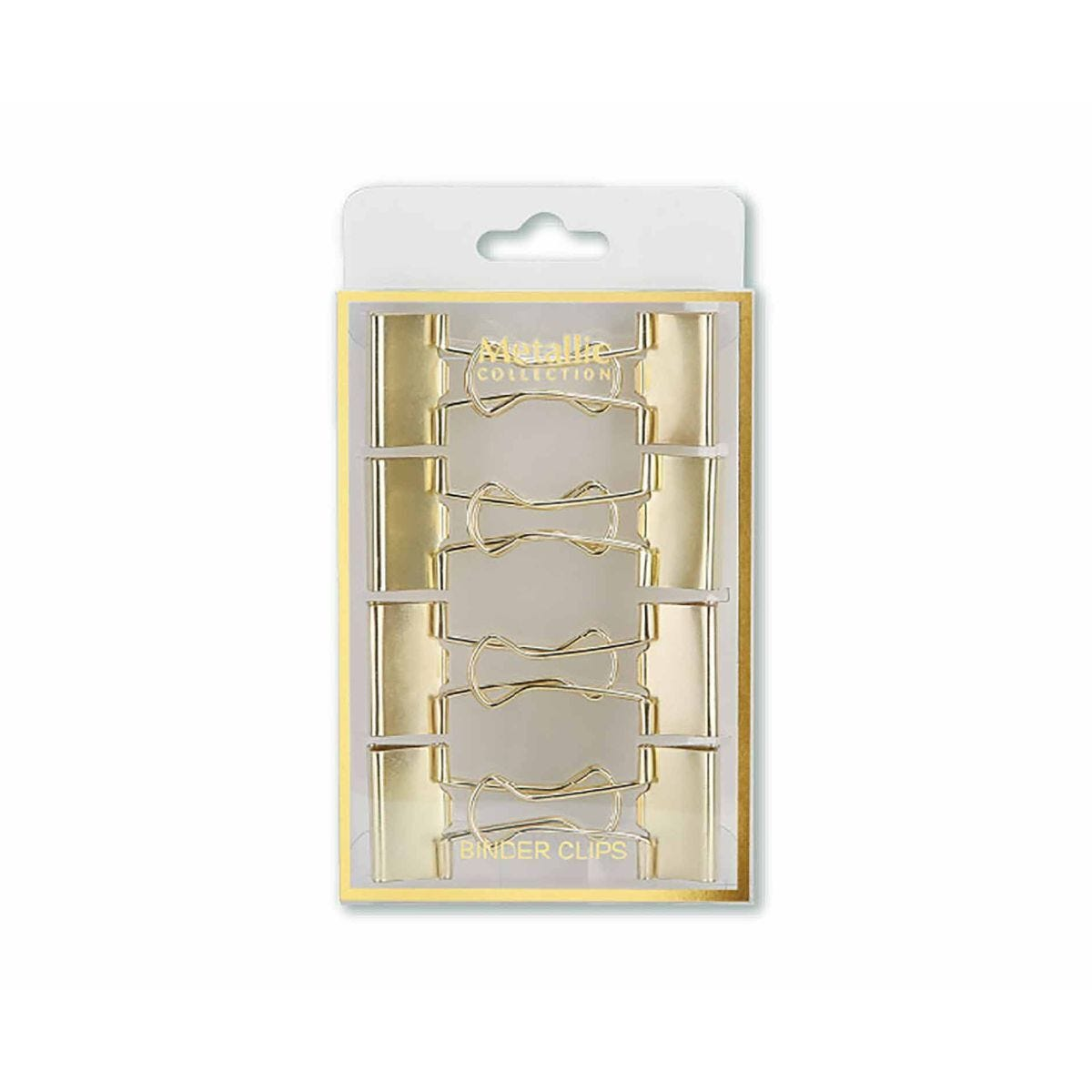 25mm Foldback Clips Gold Pack of 8