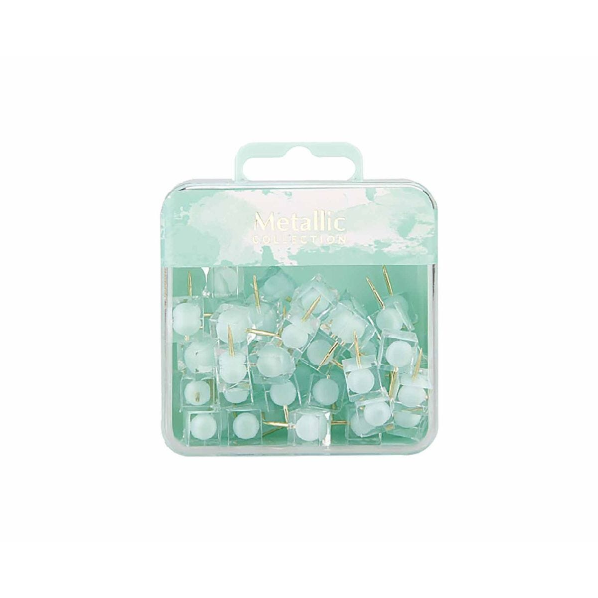 Square Push Pins Green Pack of 50