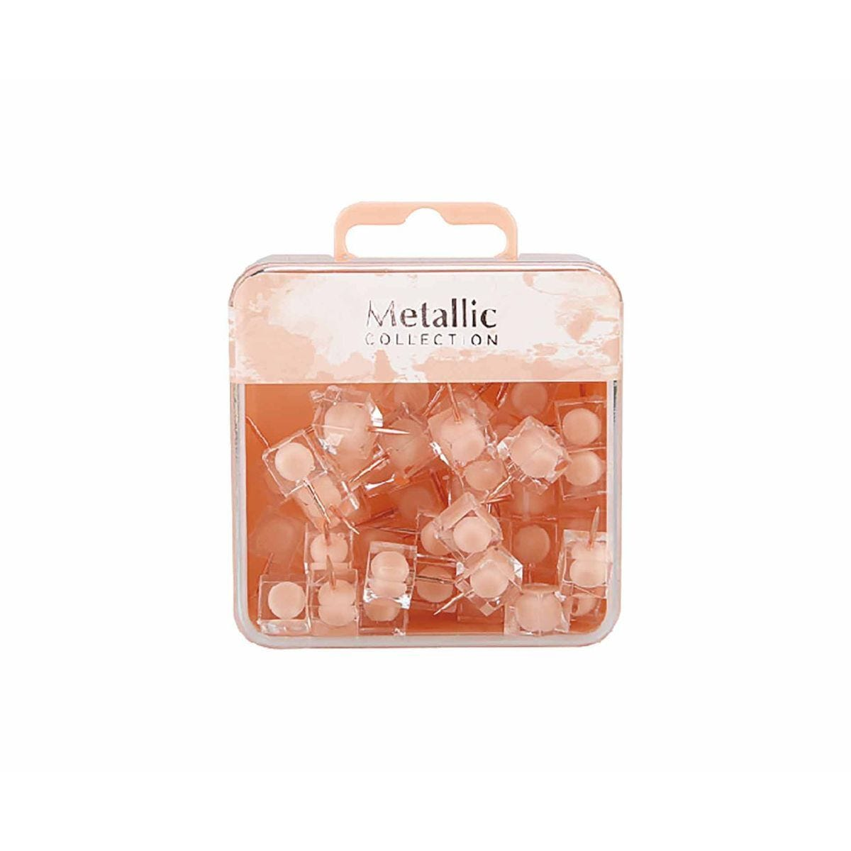 Square Push Pin Pink Pack of 50