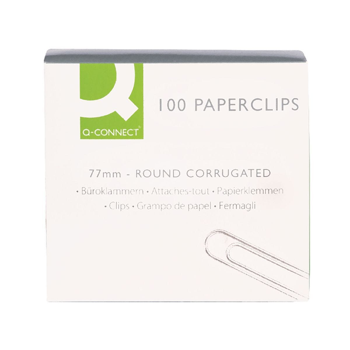 Q Connect Paperclips 77mm Wavy Pack of 100