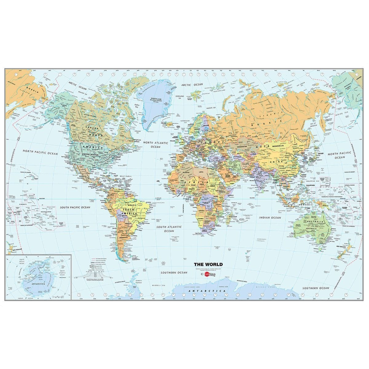 Wall Pops Dry Erase Map World
