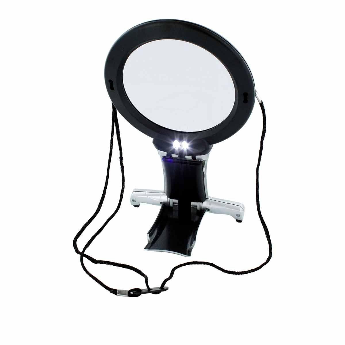 LED Neck and Desk Magnifier 2x with Inbuilt Lens