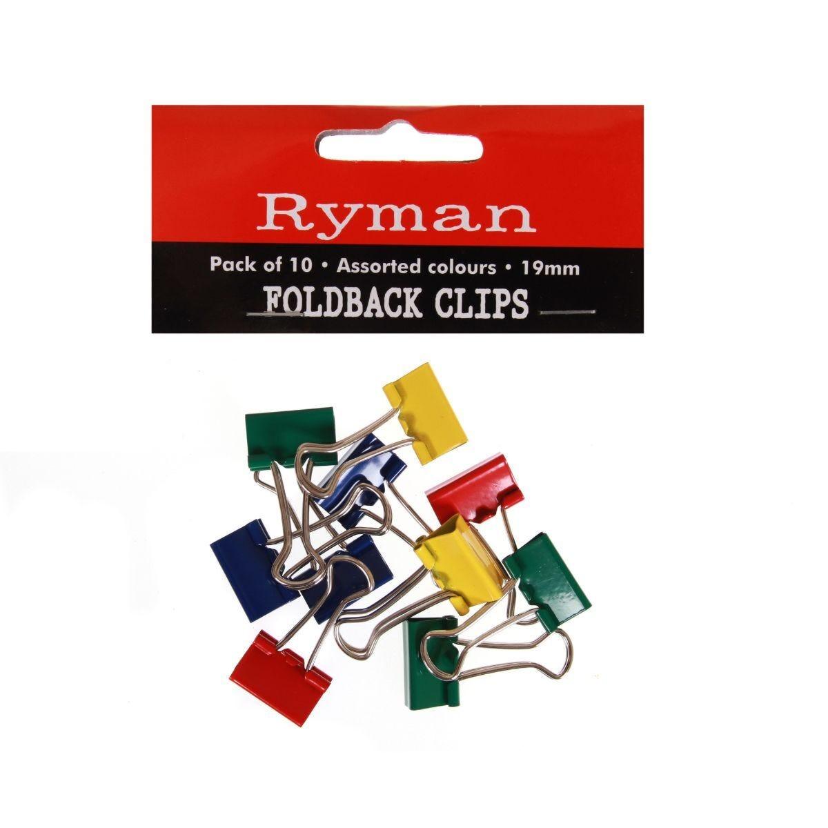 Ryman Foldback Clips 19mm Pack of 10