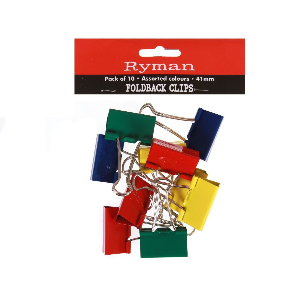 Ryman Foldback Clips 41mm Pack of 10