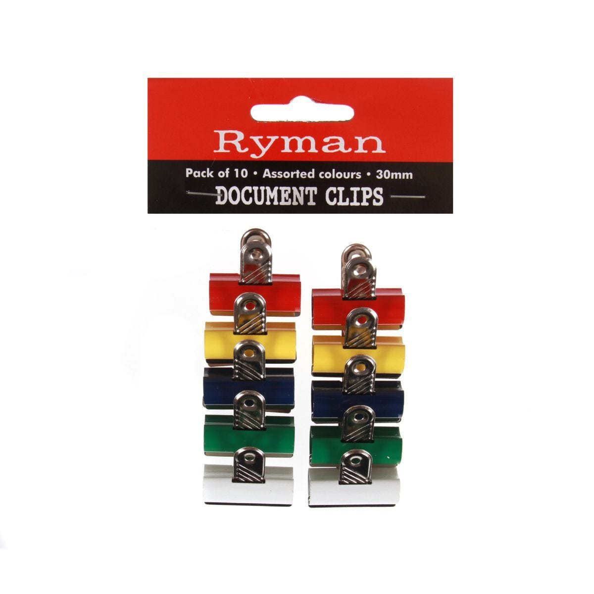 Ryman Document Clips 30mm Pack of 10