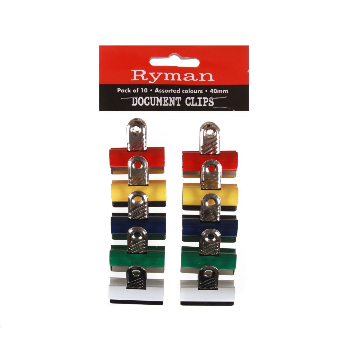 Ryman Document Clips 40mm Pack of 10
