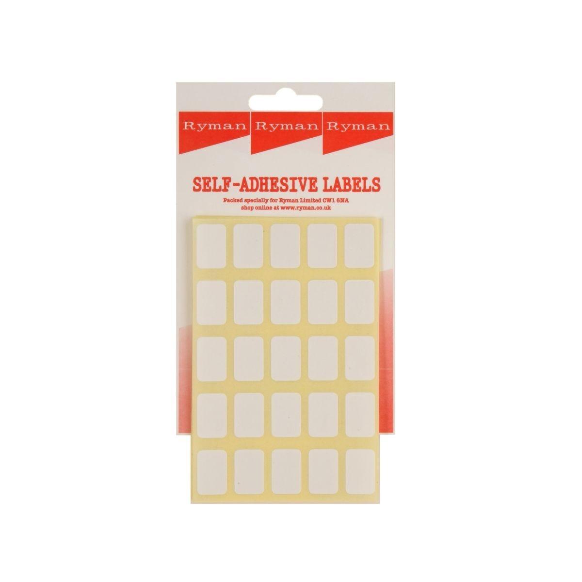 Ryman Self Adhesive Labels 18x12mm 25 per Sheet Pack of 250