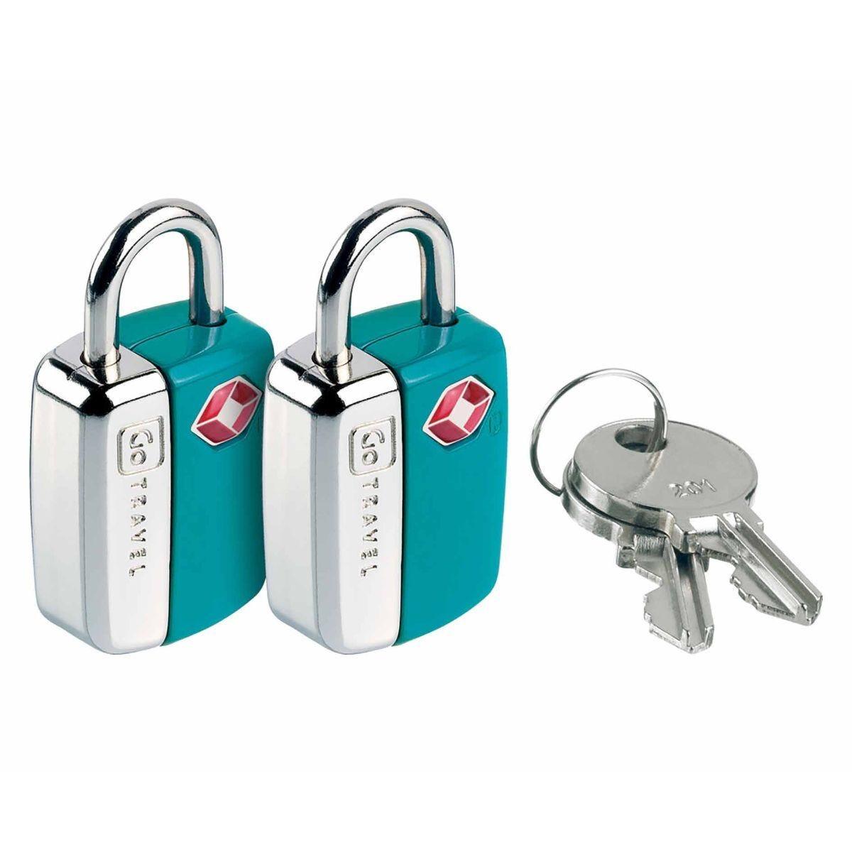 Go Travel Mini Travel Sentry Lock Pack of 2 Blue