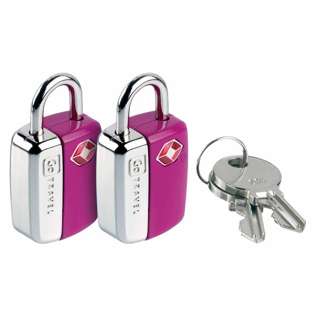 Go Travel Mini Travel Sentry Lock Pack of 2 Purple