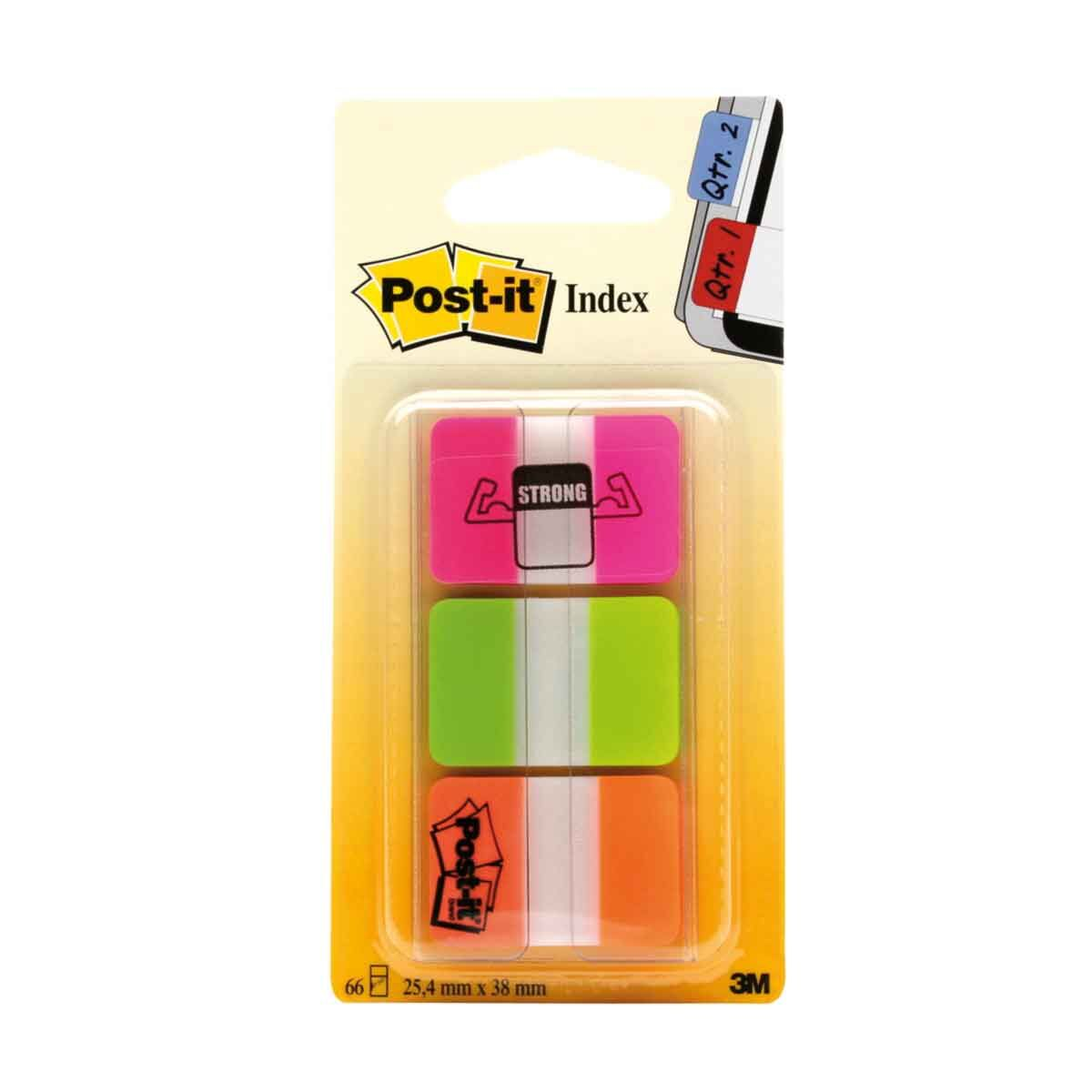 Post-it Index Markers Strong 3 Pads