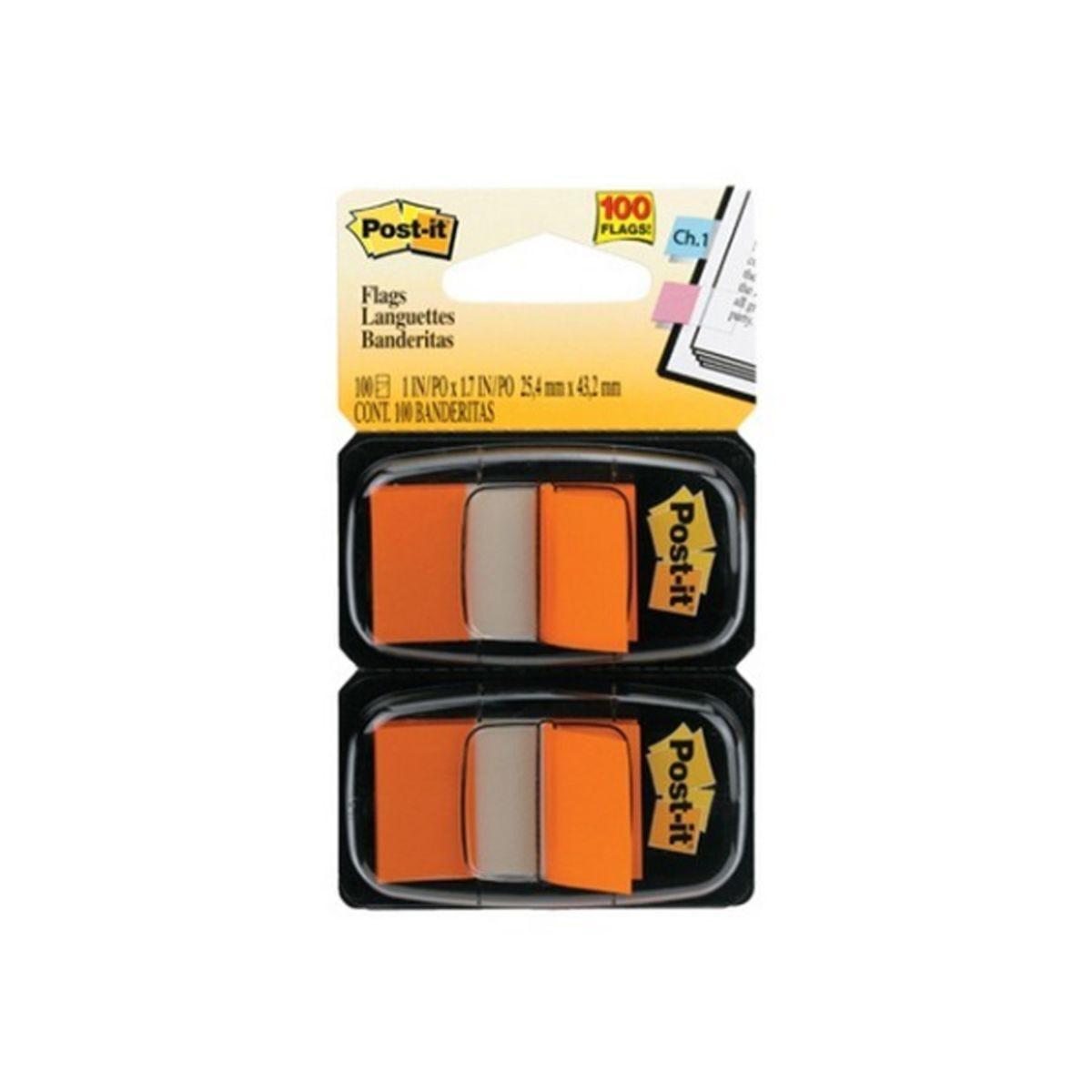 Post-it Index Medium Tabs Pack of 100 Tabs Orange