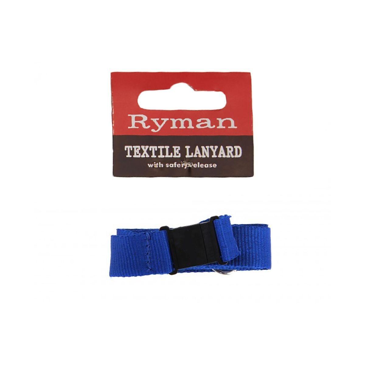 Ryman Textile Lanyard Blue