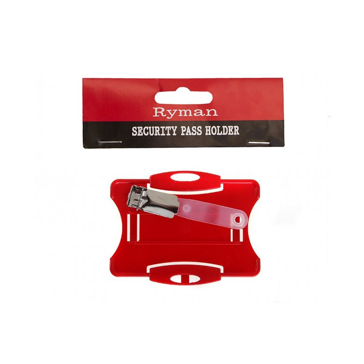 Ryman Security Pass Holder Red