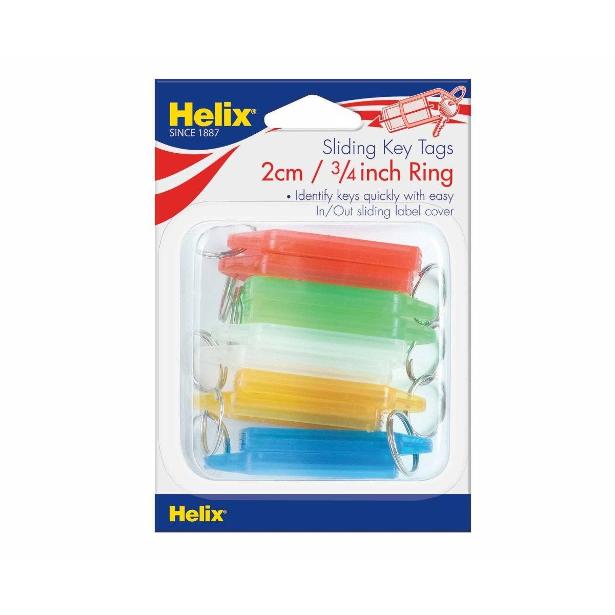 Helix Sliding Key Fobs Pack of 10
