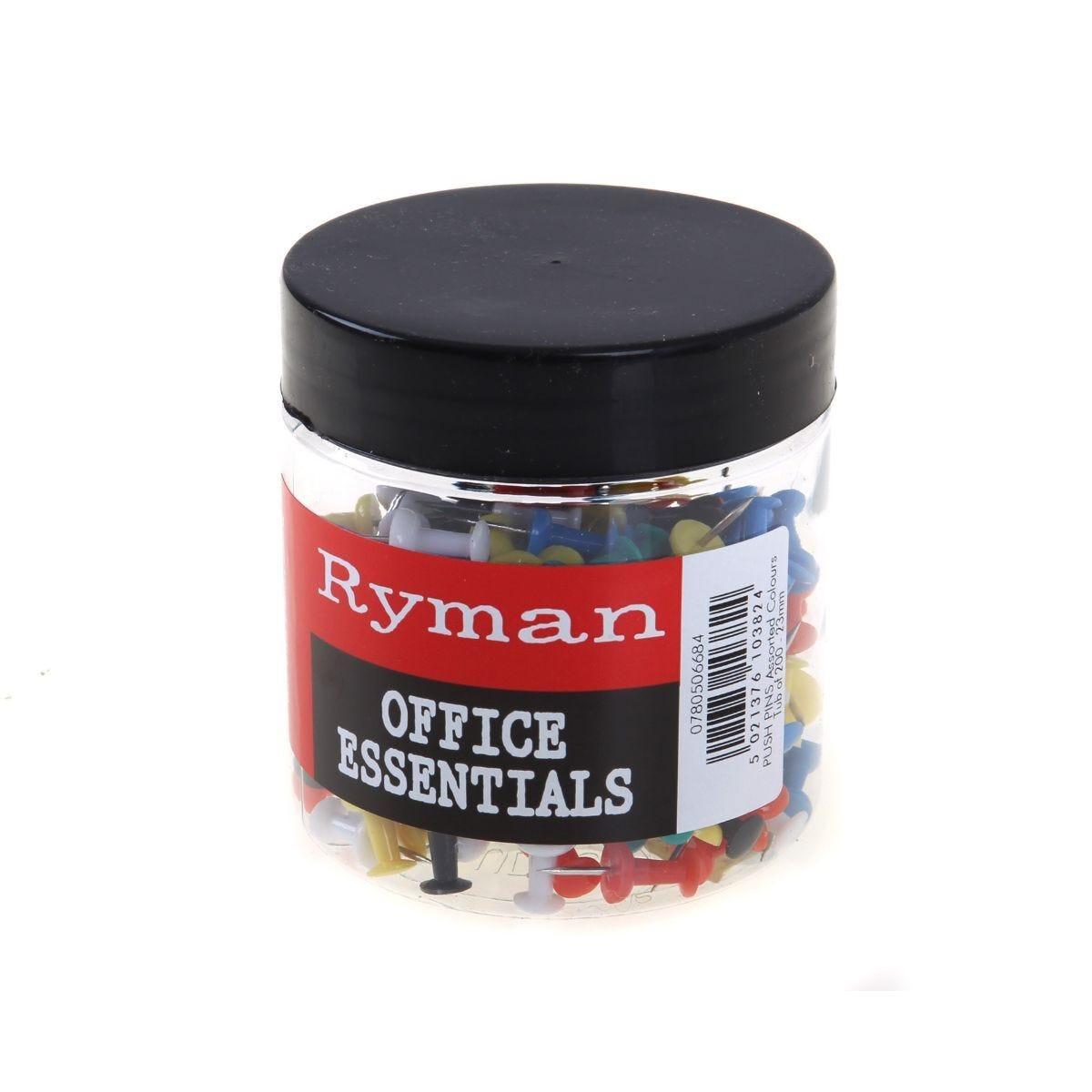 Ryman Push Pins 23mm 200 Pins