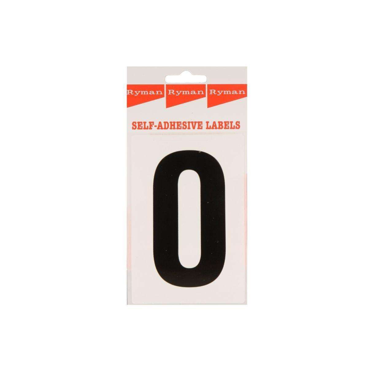 Ryman Self Adhesive Labels Number 0 Single Pack