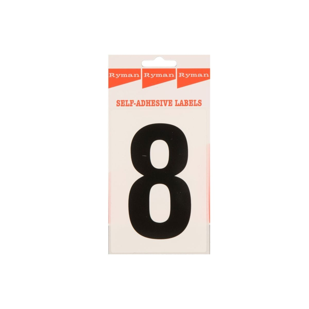 Ryman Self Adhesive Labels Number 8 Single Pack