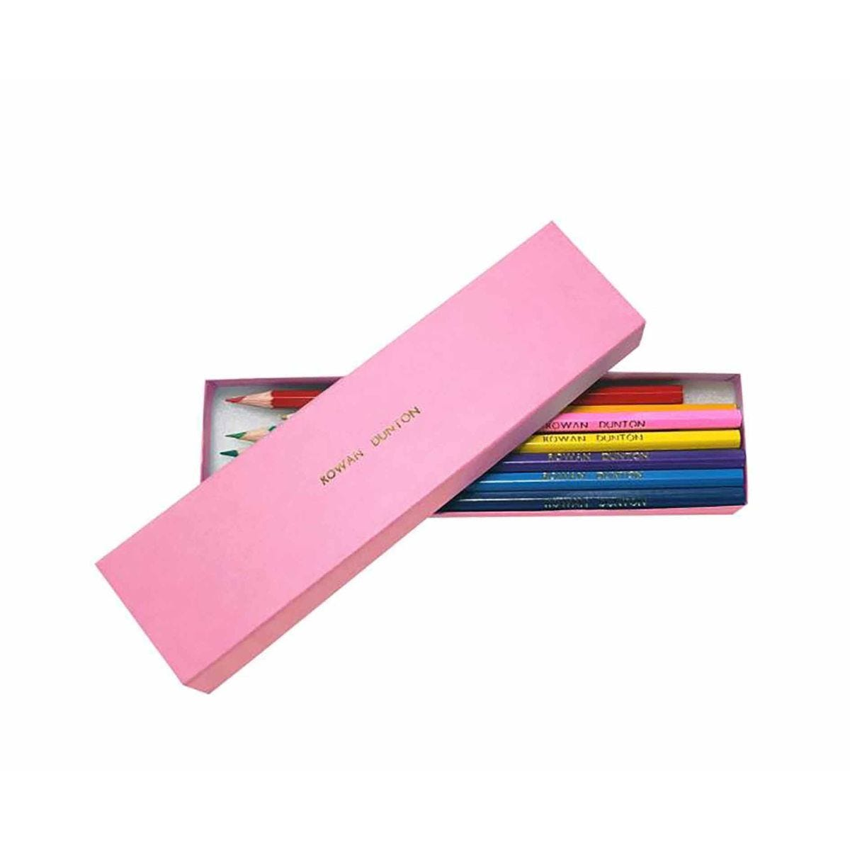 Personalised Lead Pencil Colouring Set Box of 12 Pink