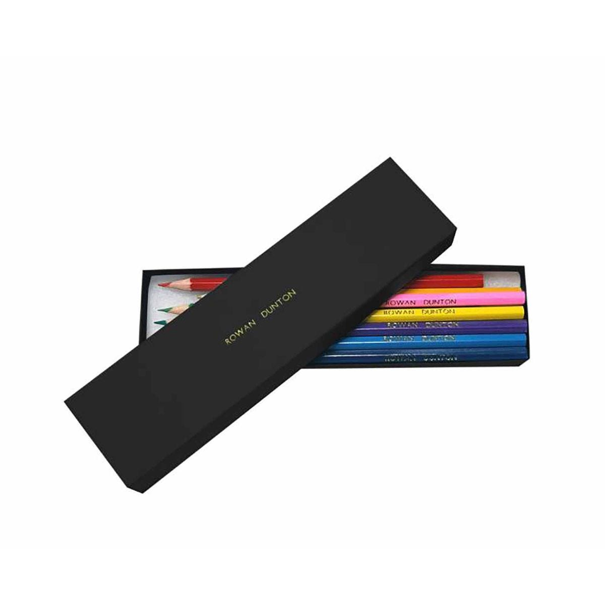 Personalised Lead Pencil Colouring Set Box of 12 Black