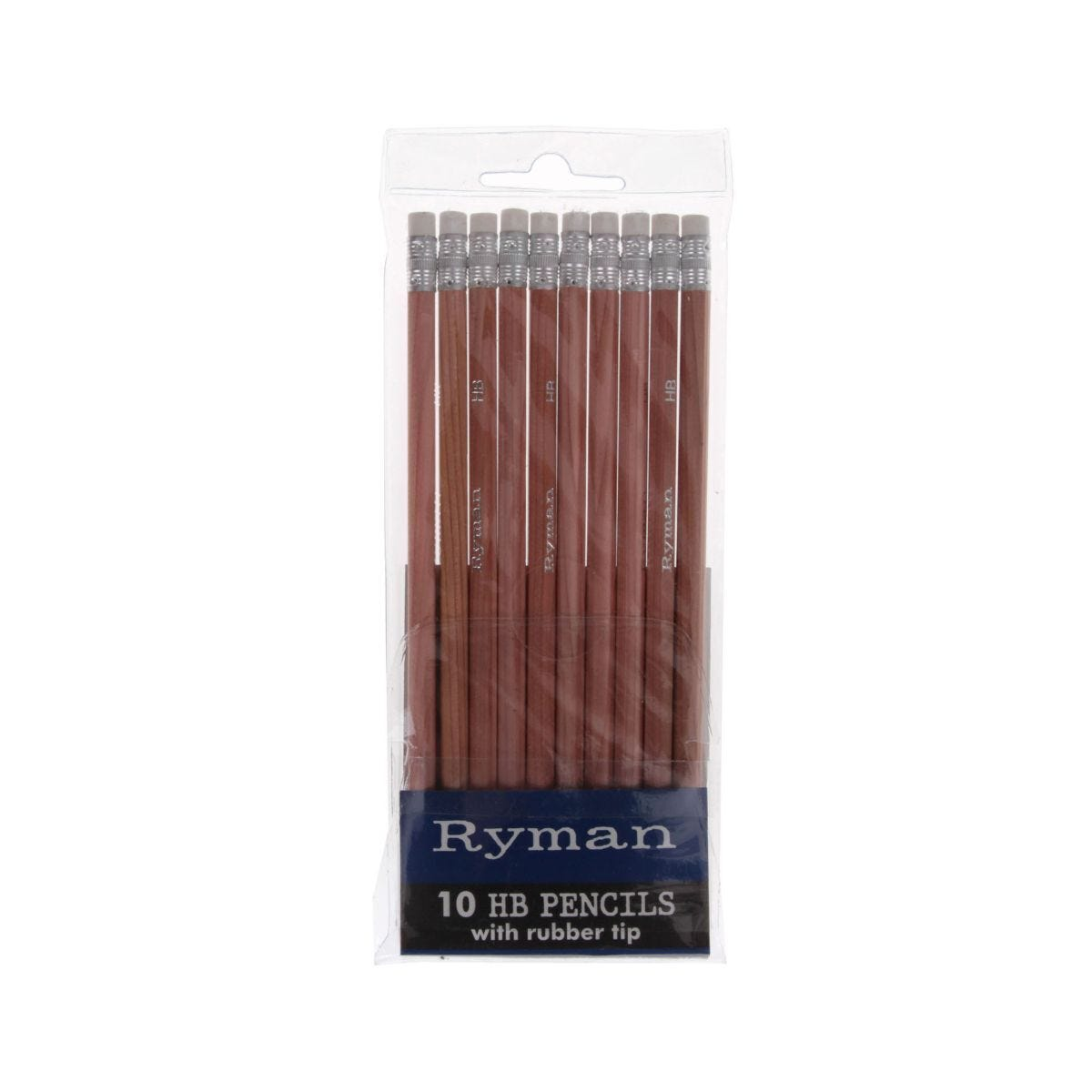 Ryman Pencils Pack 100 HB Rubber Tipped