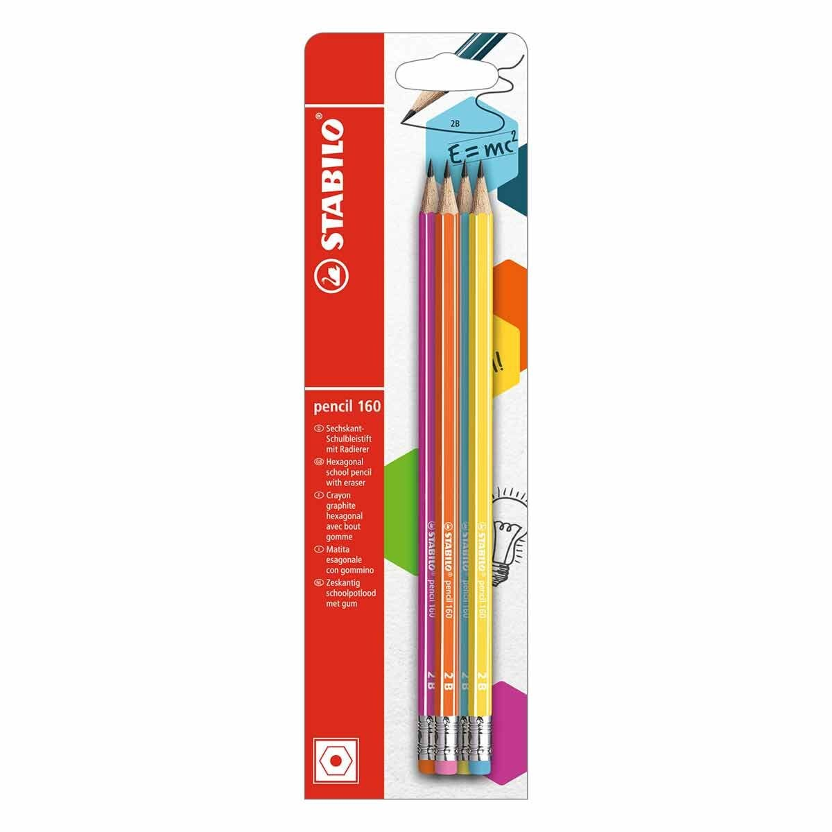 STABILO 160 2B Pencil Pack of 4