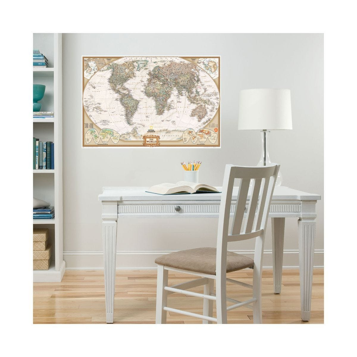 Dry Erase Executive World Map