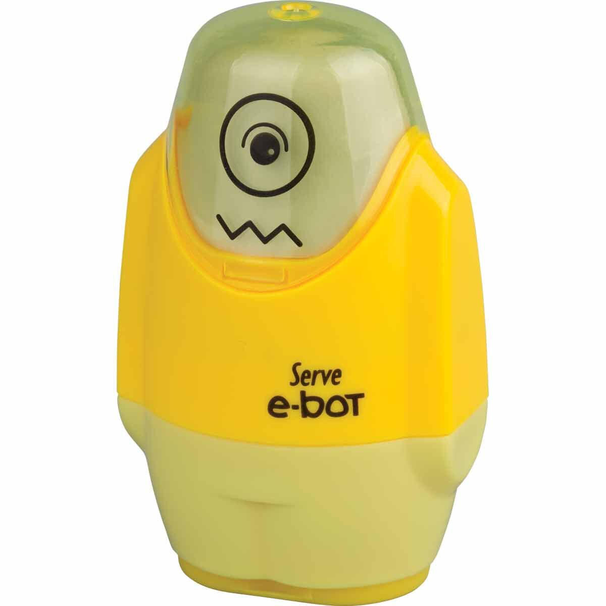 Serve E-Bot Eraser and Sharpener