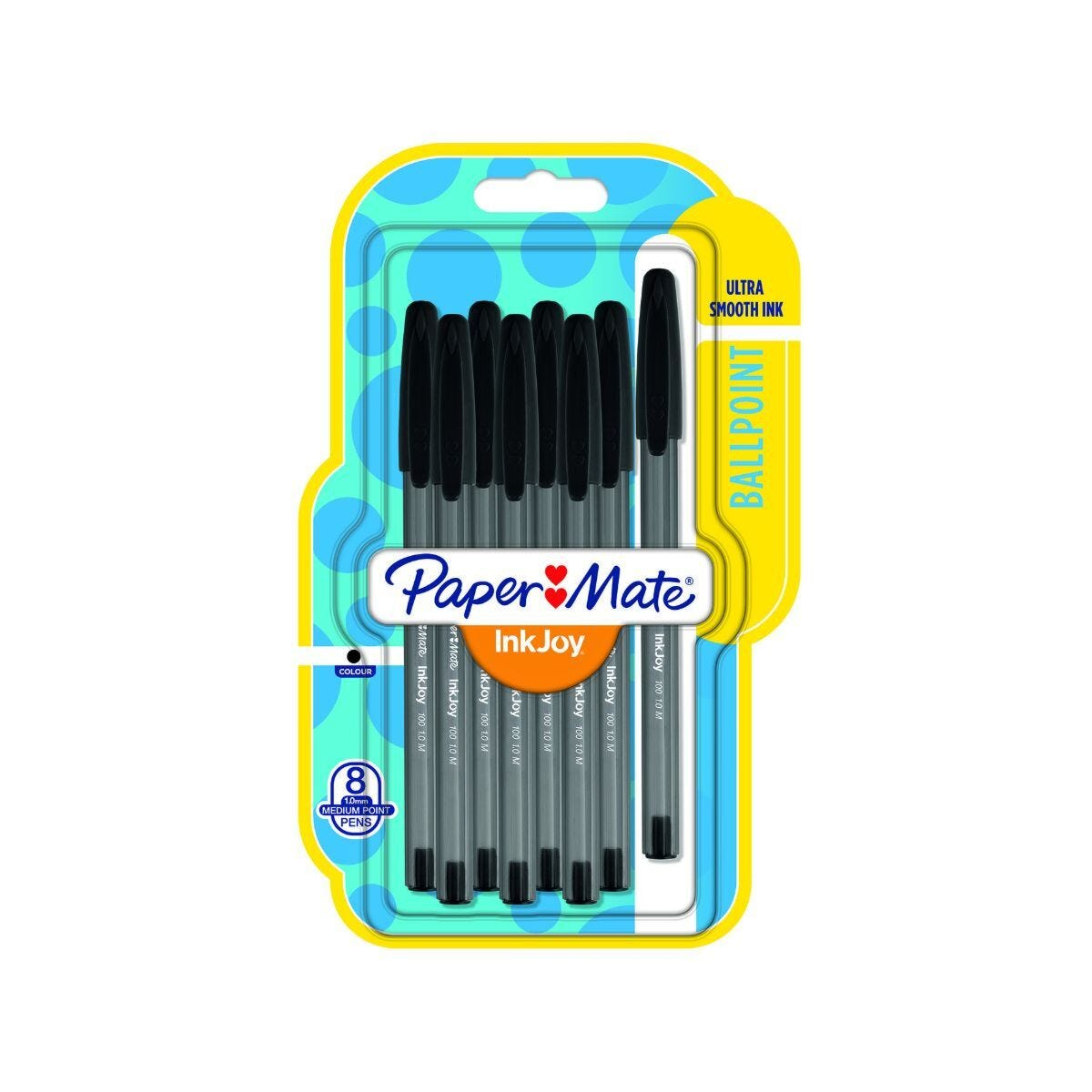 Paper Mate Inkjoy 100 Ball pen Pack of 8 Black