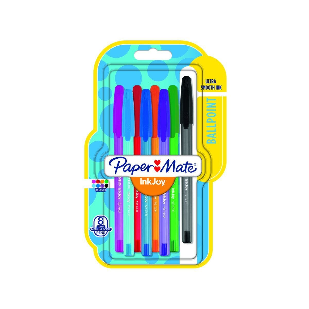 Paper Mate Inkjoy 100 Ball Pen Pack of 8 Fun Assorted