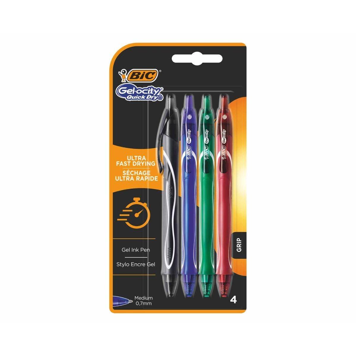 BiC Gelocity Gel Pens Pack of 4 Assorted