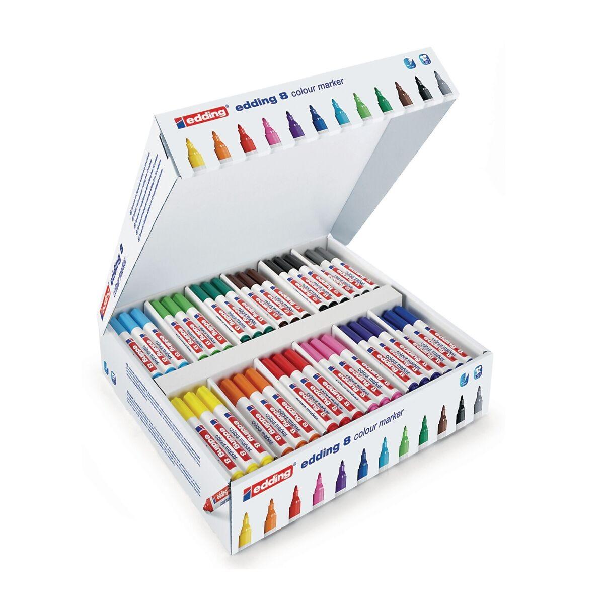 Edding Colourmarkers Bullet Classpack of 144 Pens