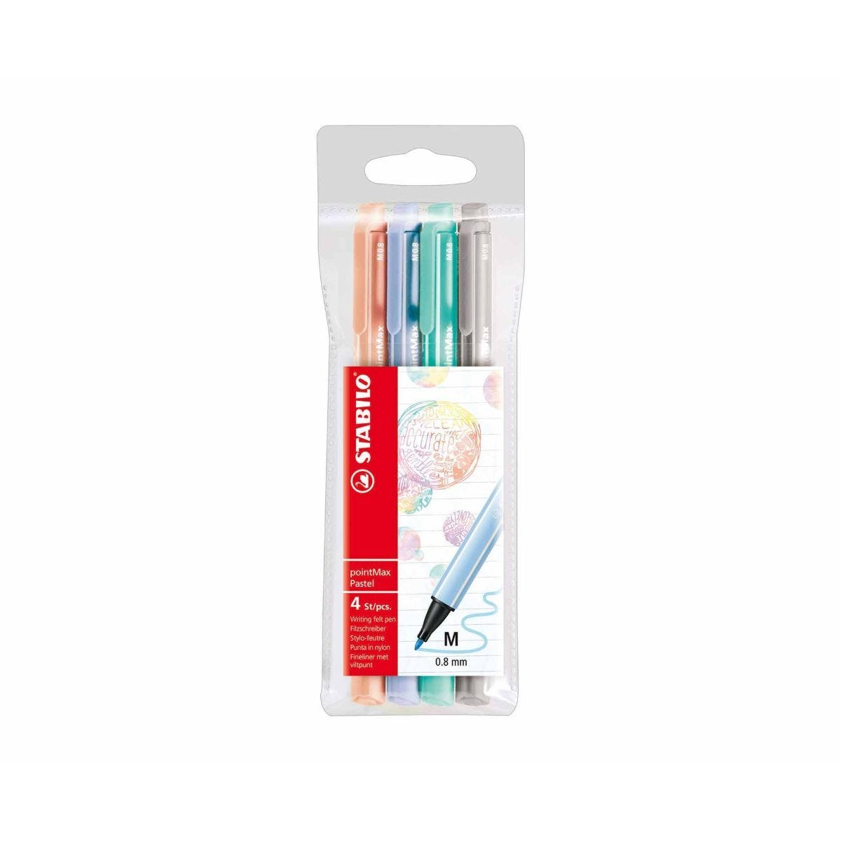 STABILO PointMax Pastel Pack of 4 Assorted