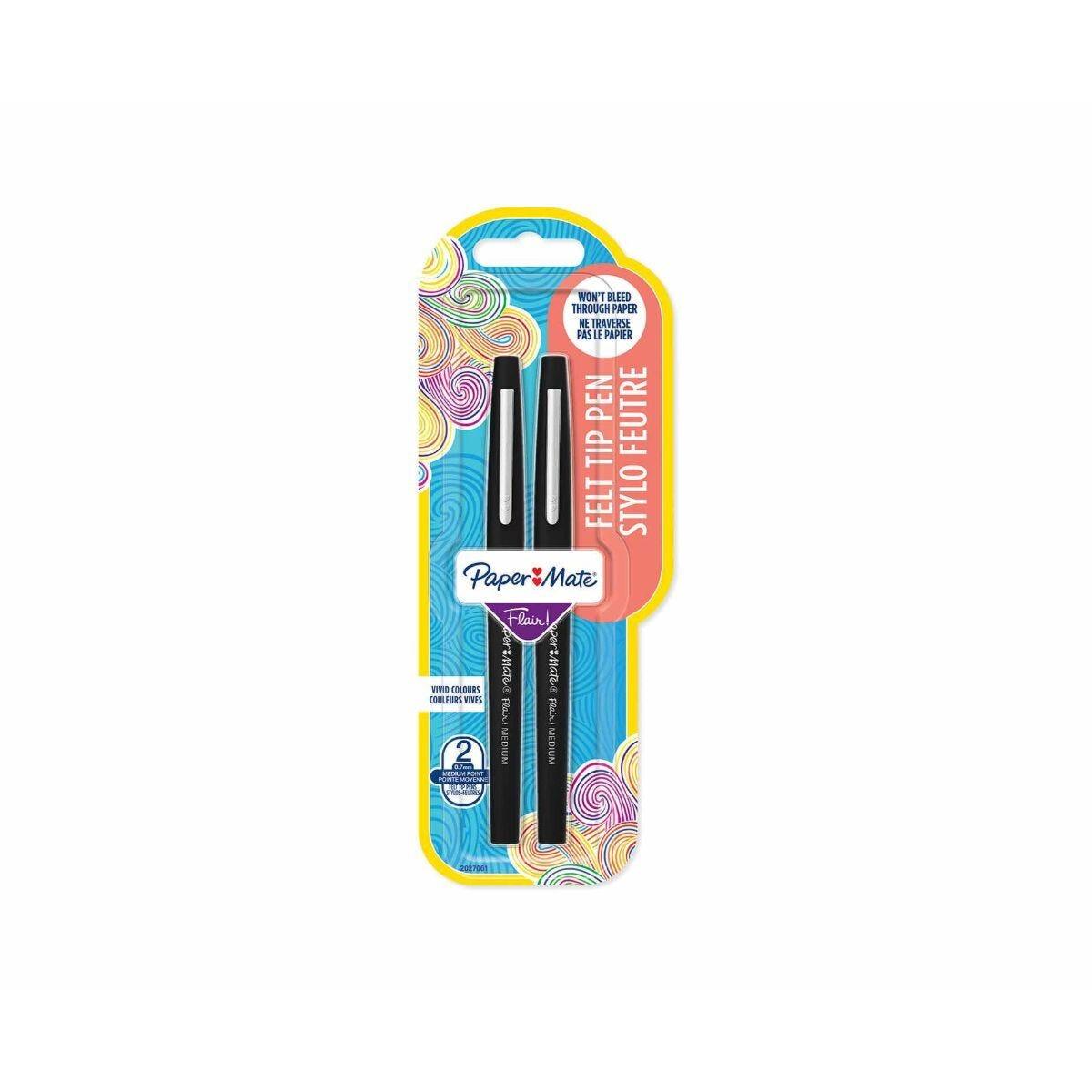 Paper Mate Flair Fibre Tip Pen Pack of 2