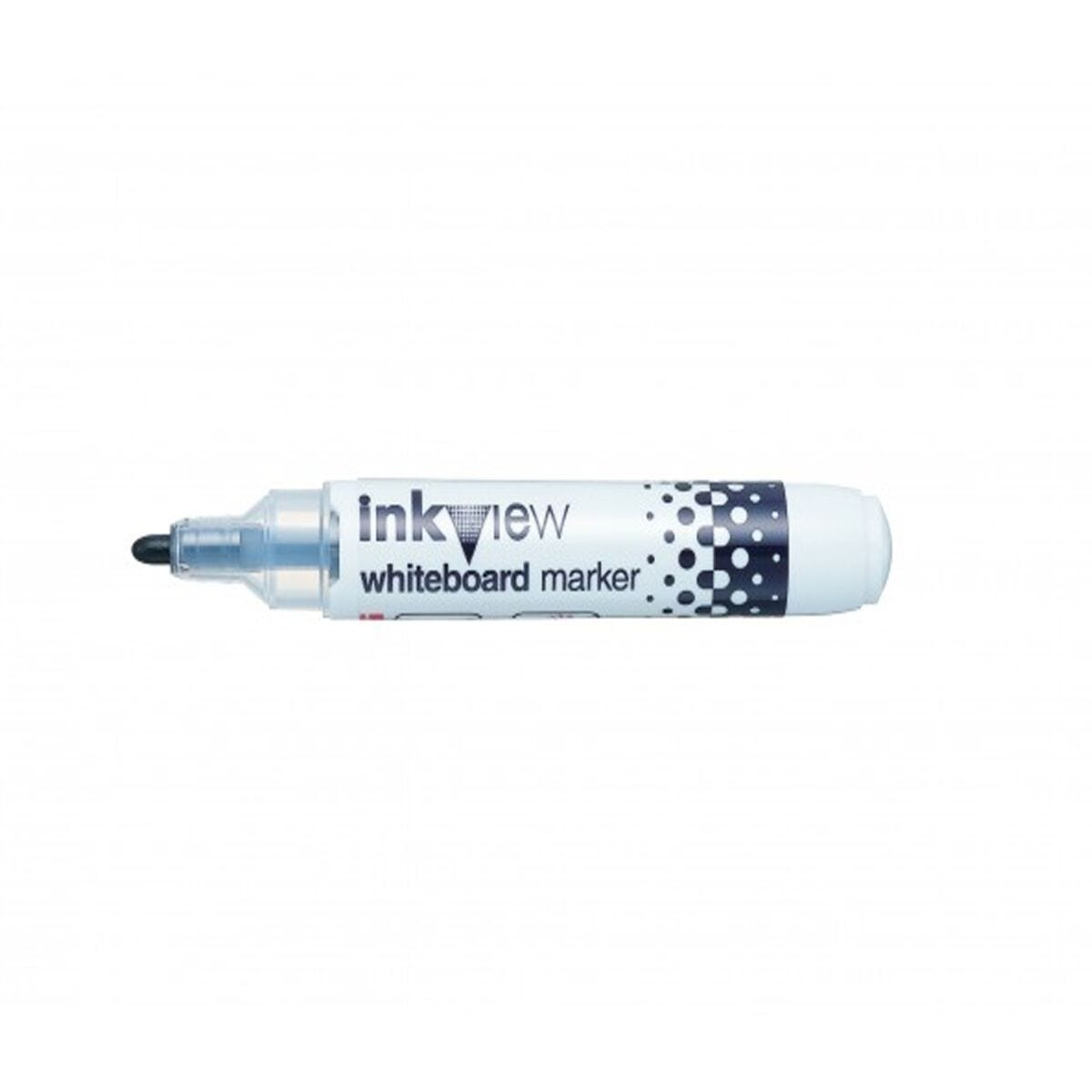 Inkview Whiteboard Marker Pack of 12 Black