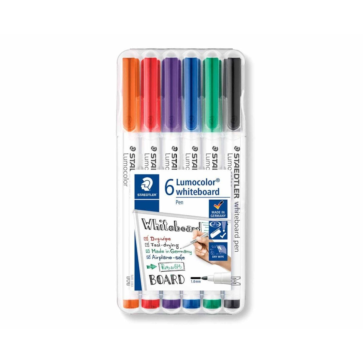 Staedtler Lumocolor Dry Wipe Markers Fine Pack of 6