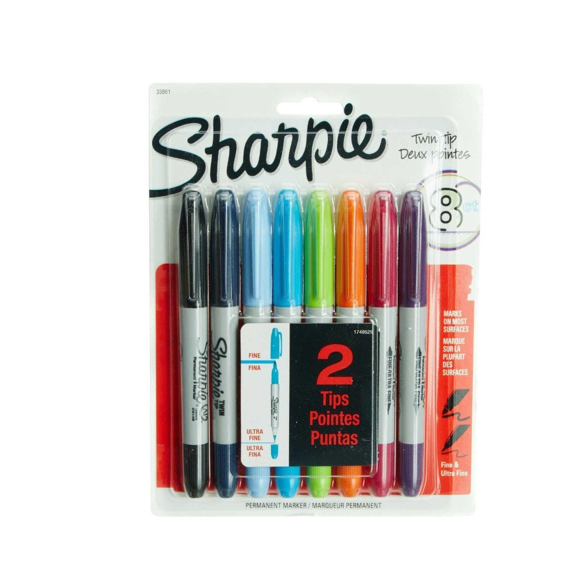 Sharpie Twin Tip Markers Pack of 8