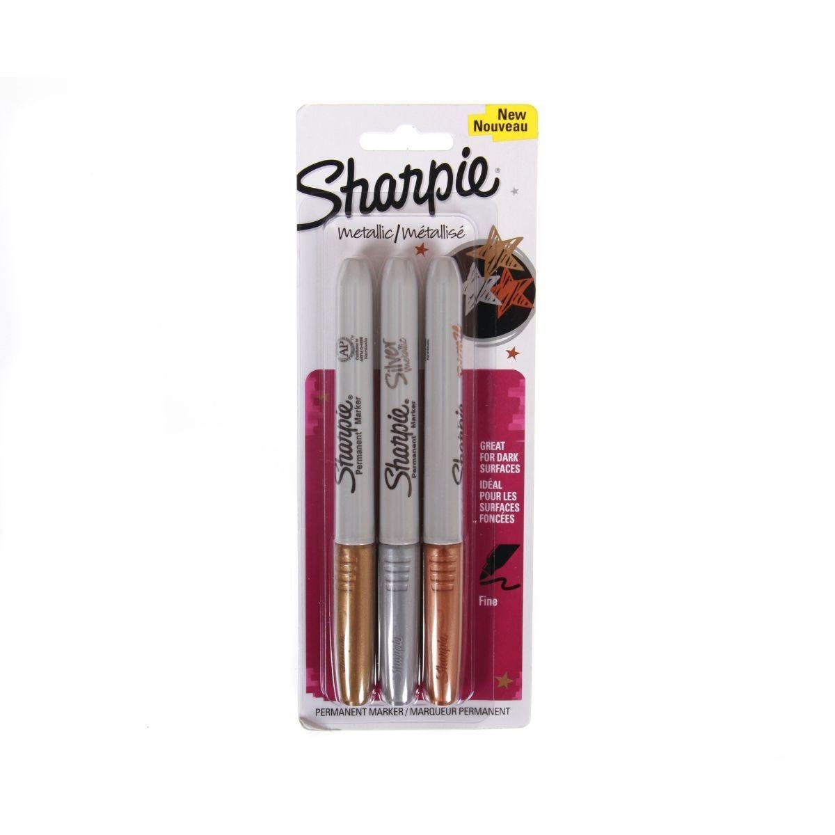 Sharpie Metallic Permanent Marker Pack of 3